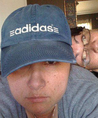 The hat hides me